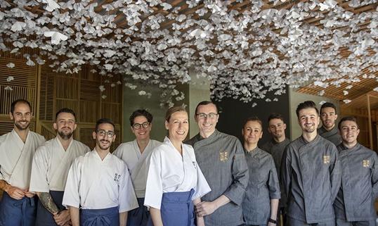 nozomi sushi bar Nuria Morell y Miguel Herrera. Valencia Culinary Festival
